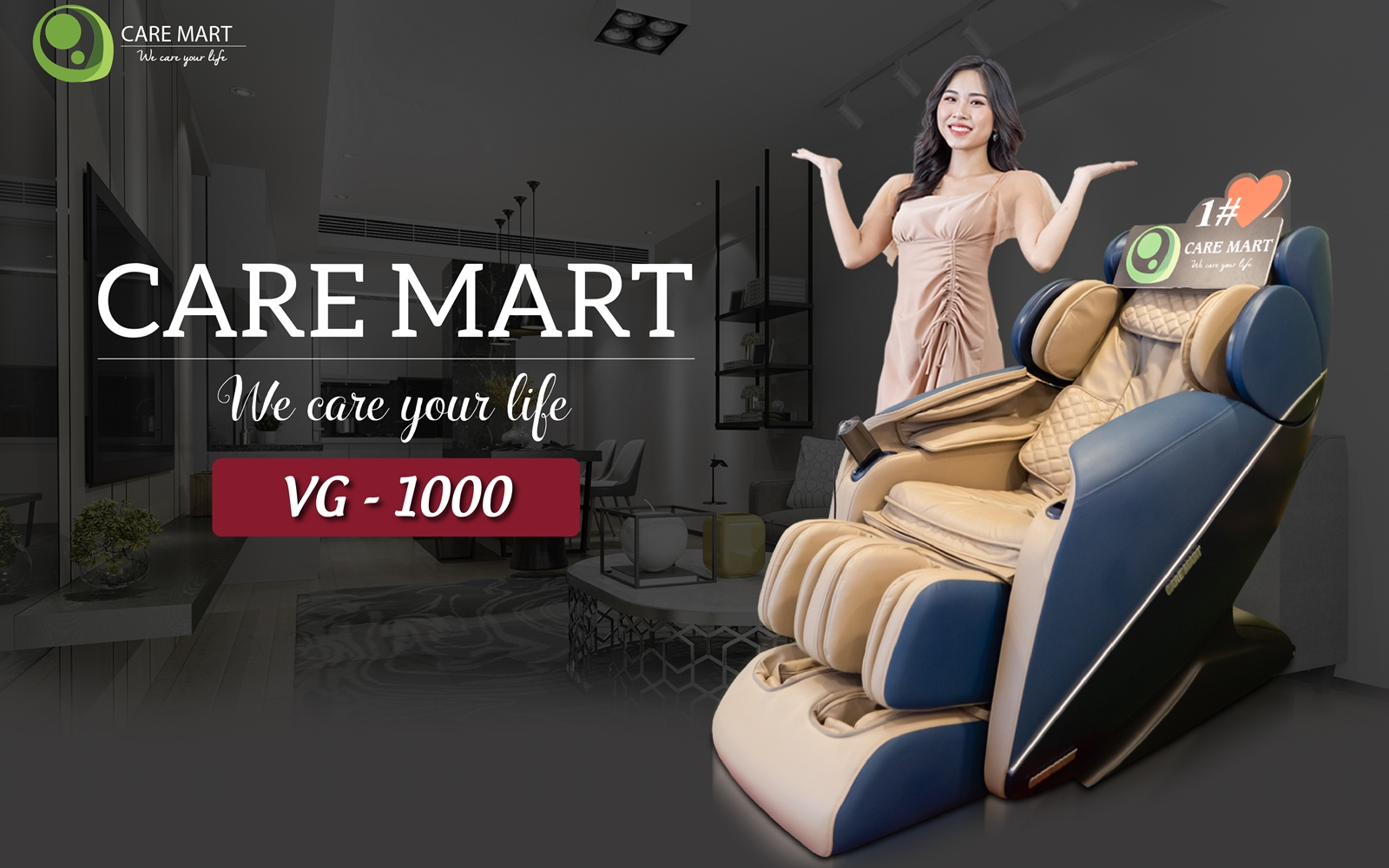 ghế massage carematy vg 1000