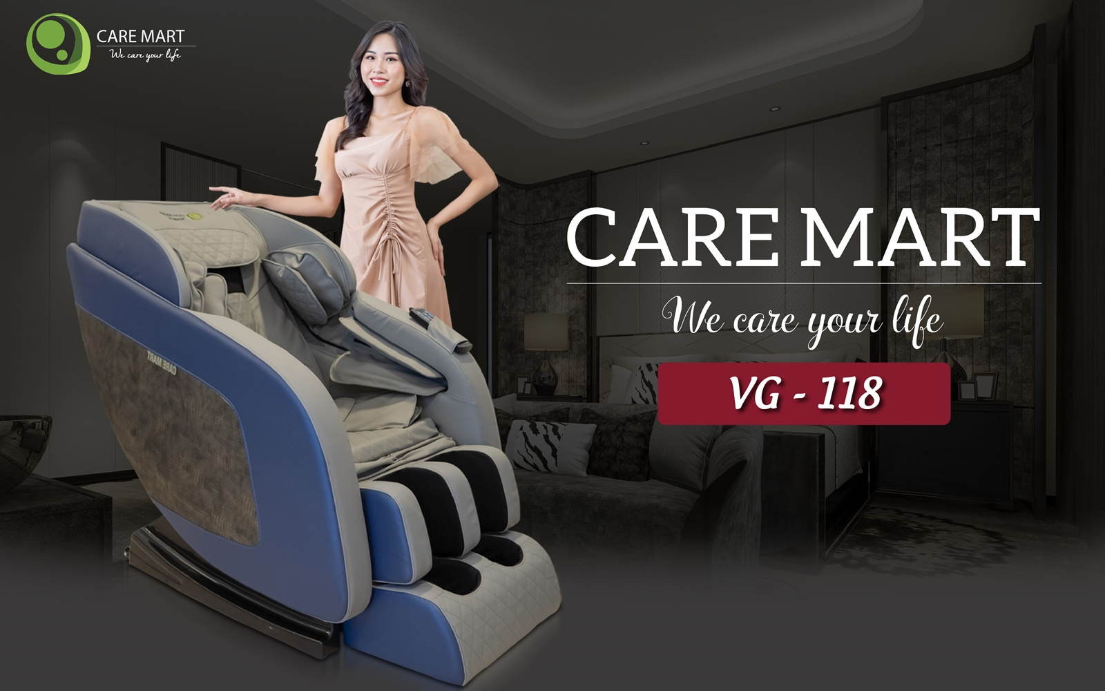 ghế massage caremart vg 118